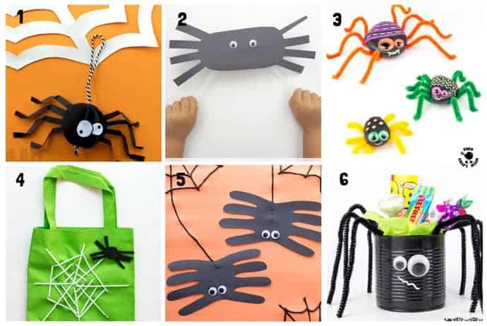 Spider Halloween Crafts For Kids