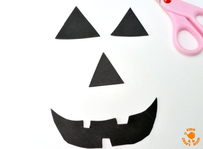Craft Foam Shapes For Make-A-Face Jack O'Lantern Sensory Play Bag