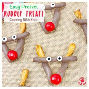 Easy Chocolate Pretzel Reindeer Treats