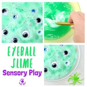 Eerie Eyeball Slime Sensory Play