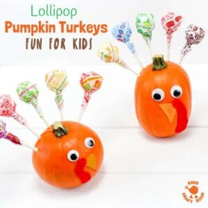 Lollipop Pumpkin Turkeys