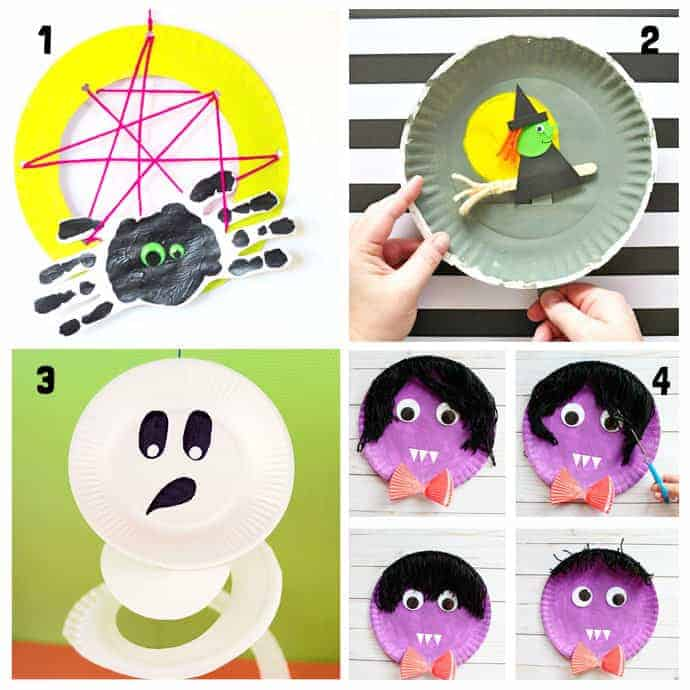 1-4 Paper Plate Halloween Crafts