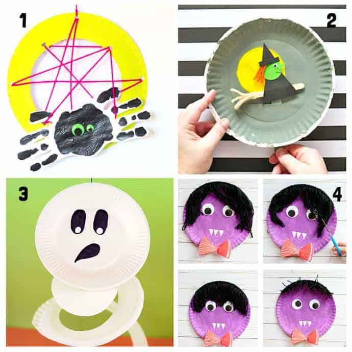 20 Fun Paper Plate Halloween Crafts Kids Craft Room