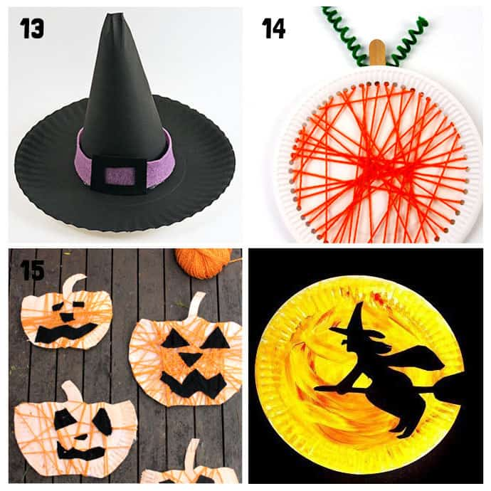 13-16 Paper Plate Halloween Crafts