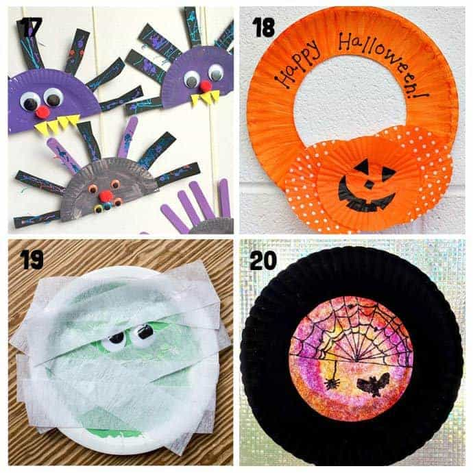 17-20 Paper Plate Halloween Crafts