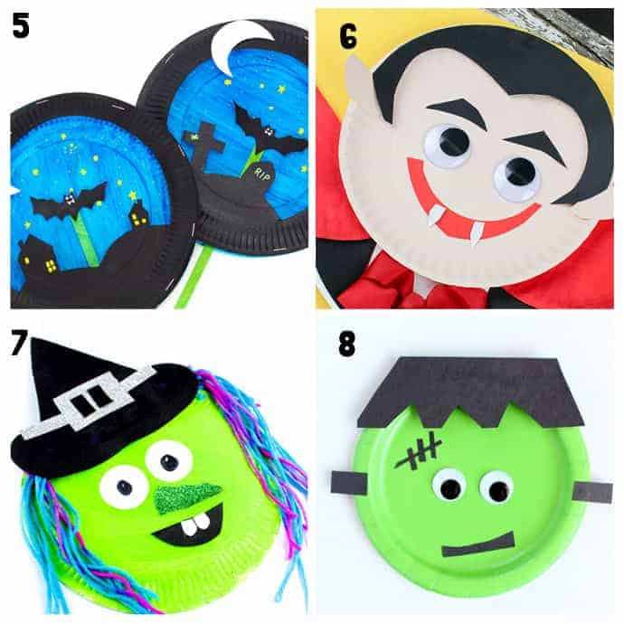 5-8 Paper Plate Halloween Crafts
