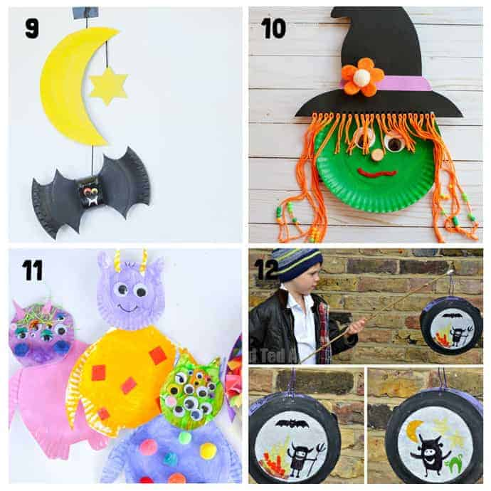 9-12 Paper Plate Halloween Crafts