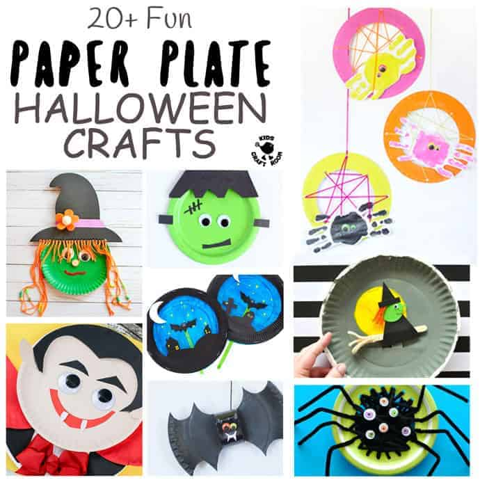 Paper Plate Halloween Crafts For Kids - Grab your paper plates Halloween is coming! We've got over 20 of the most fun paper plate crafts to keep your kids enjoying creativity right through the spooky season. Think witches that fly on their broomsticks, bats that zoom through the graveyard and much more. A mix of interactive and decorative Halloween crafts kids will adore.