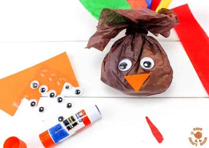 Step 4 - candy-filled turkey favors