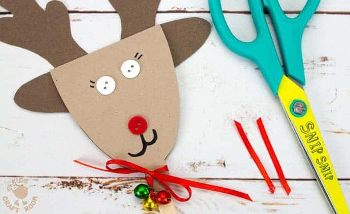 Step 10 Reindeer Puppets Greeting Cards