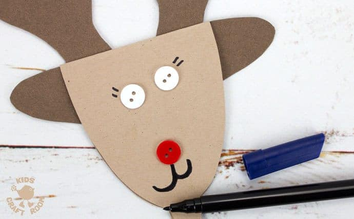 Step 6 Reindeer Puppets Greeting Cards