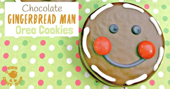 Chocolate Gingerbread Man Oreo Cookies Kids Craft Room