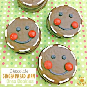 Chocolate Gingerbread Man Oreo Cookies