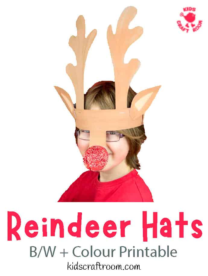 Printable Reindeer Antlers Hat pin image 3