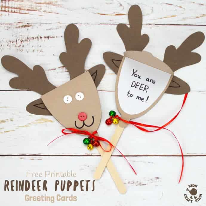 Free printable template reindeer puppet greeting cards kids craft room reindeer puppet greeting cards these rudolf puppets are so fun to make and because they m4hsunfo