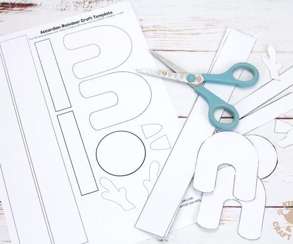step 1 paper reindeer craft
