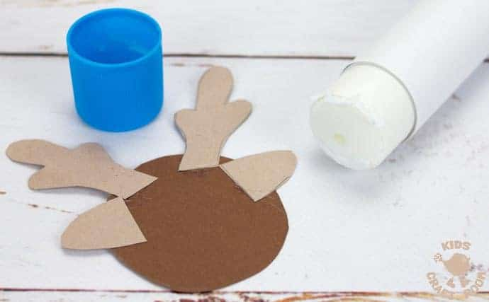 step 3 paper reindeer craft