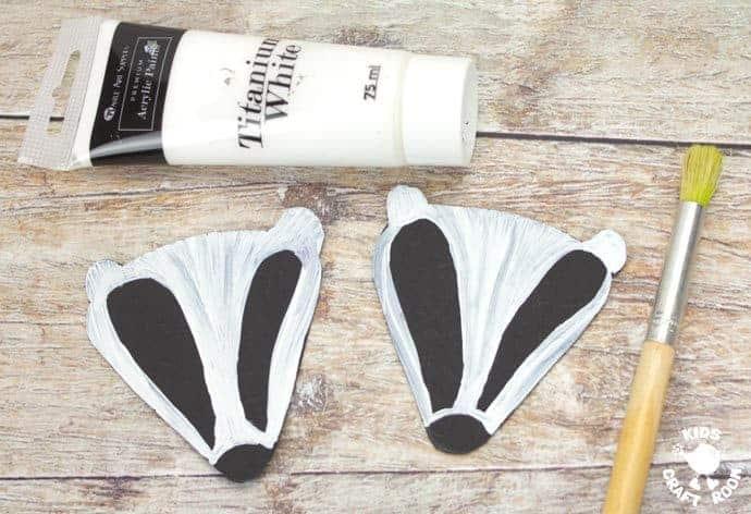 step 3 woodland handprint badger puppets
