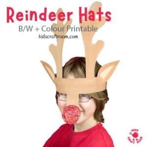 Printable Reindeer Antlers Hat pin image 1