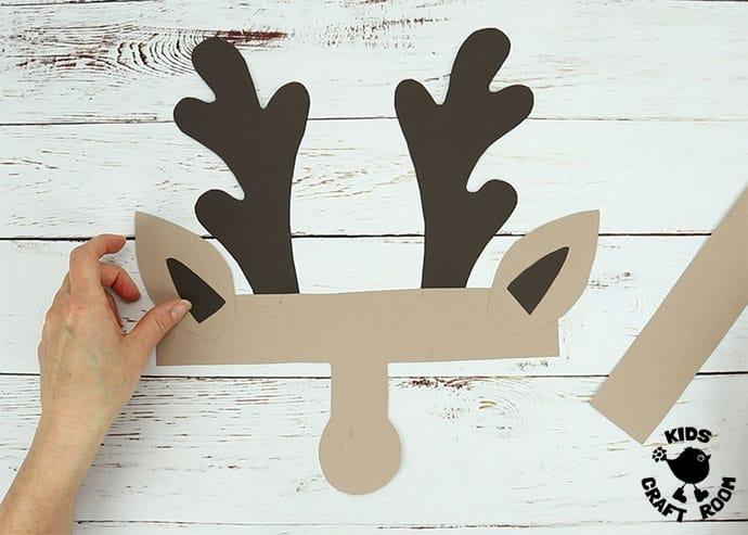 Printable Reindeer Antlers Hat step 3