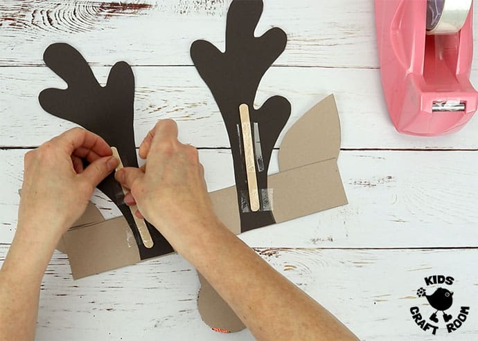 Printable Reindeer Antlers Hat step 5