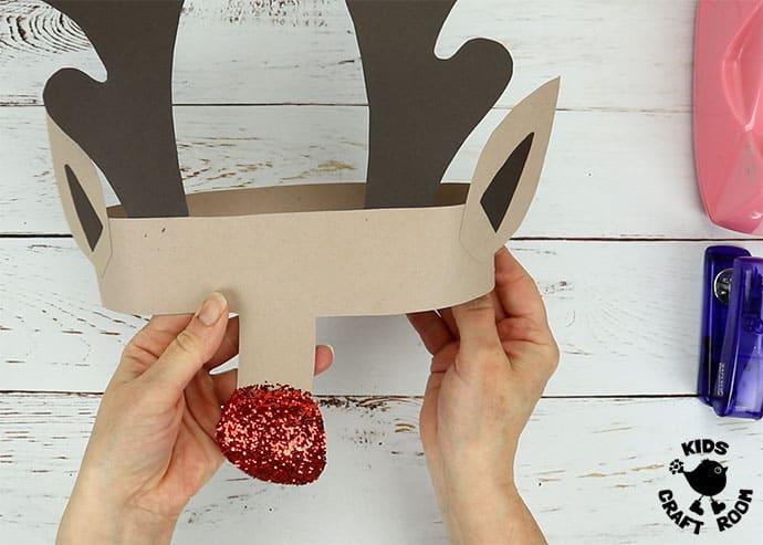Printable Reindeer Antlers Hat step 6