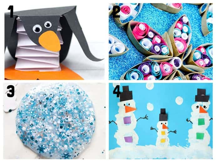 1-4 New Wonderful Winter Crafts For Kids