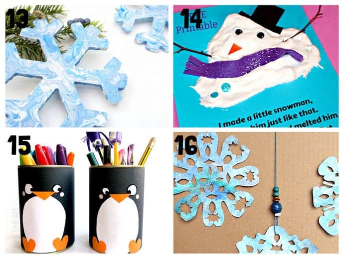 13-16 New Wonderful Winter Crafts For Kids