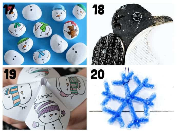 17-20 New Wonderful Winter Crafts For Kids