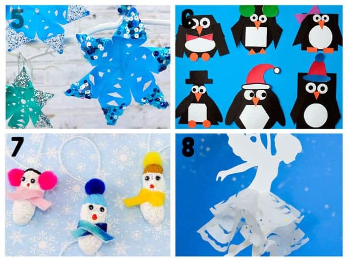 5-8 New Wonderful Winter Crafts For Kids