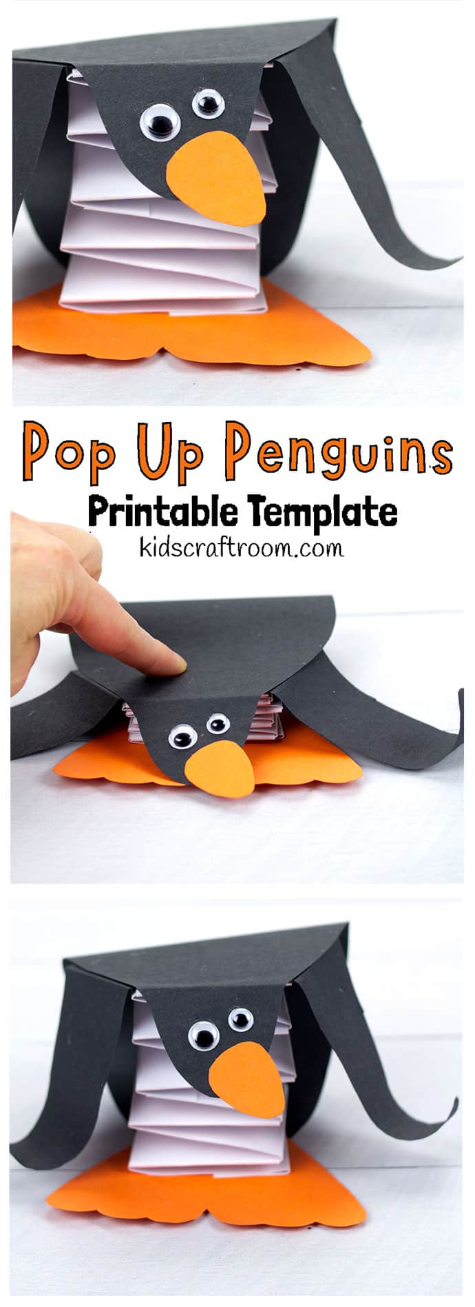 Pop Up Penguin Craft pin 2