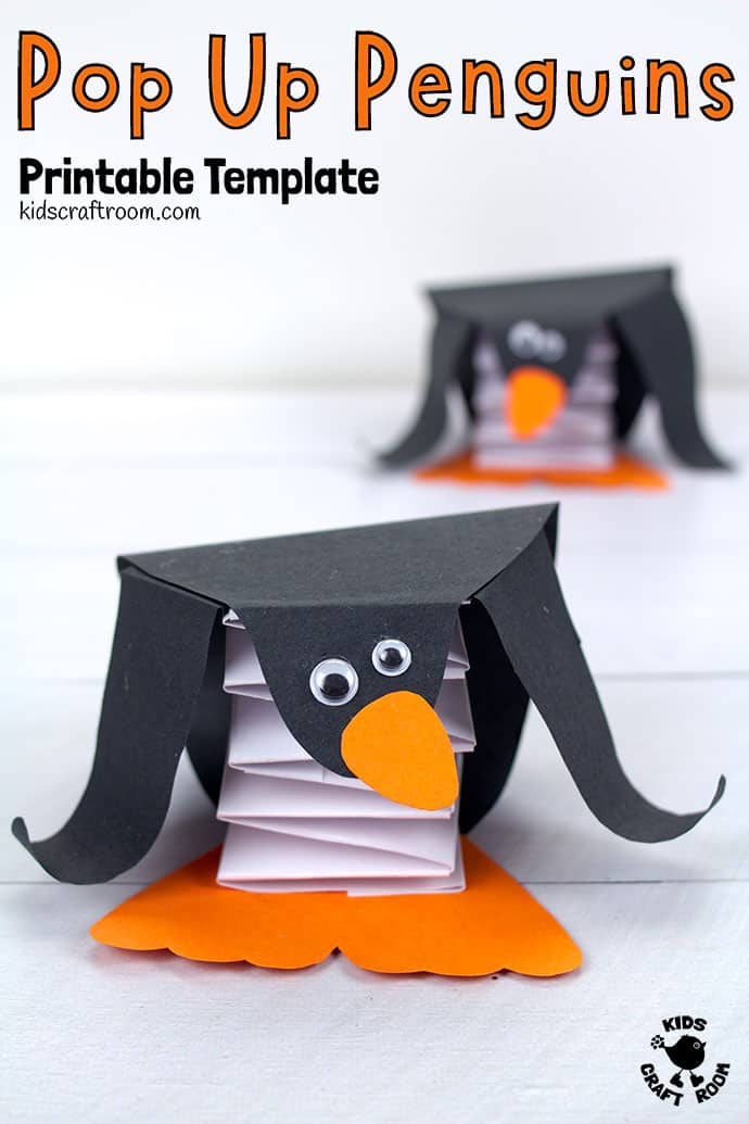 Pop Up Penguin Craft pin 3
