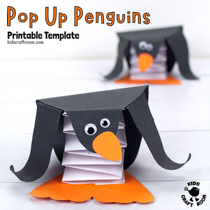Pop Up Penguin Craft pin 1