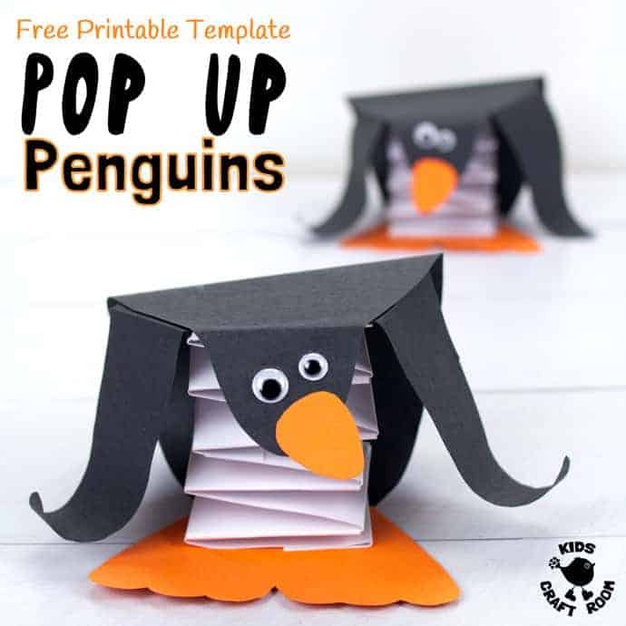 image relating to Penguin Template Printable known as Totally free Printable Template Pop Up Penguin Craft - Children Craft Area