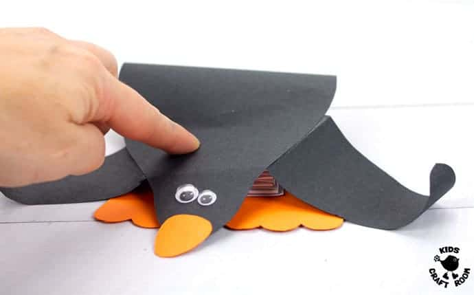 pushed-down-Paper-Pop-Up-Penguin-Craft