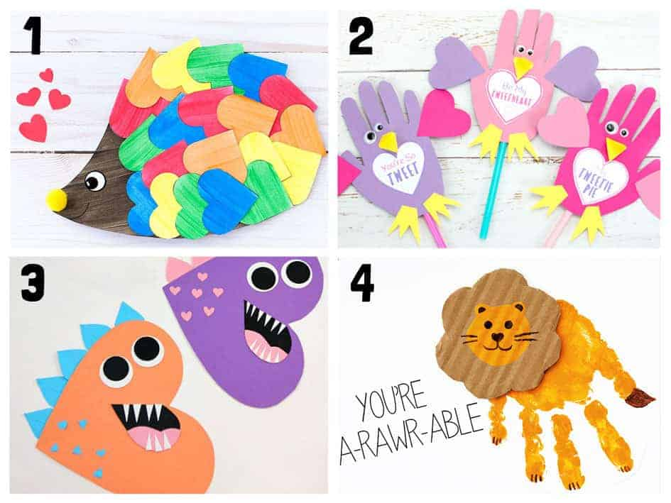 Animal Valentine Crafts 1-4