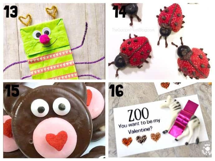 Animal Valentine Crafts 13-16