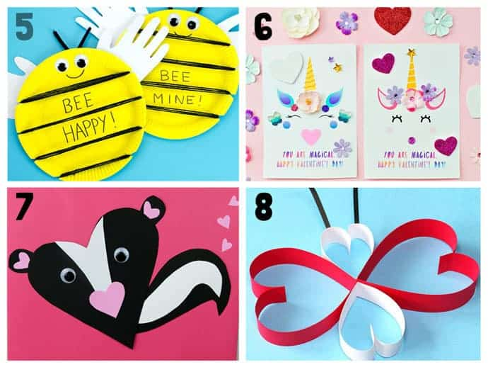 Animal Valentine Crafts 5-8