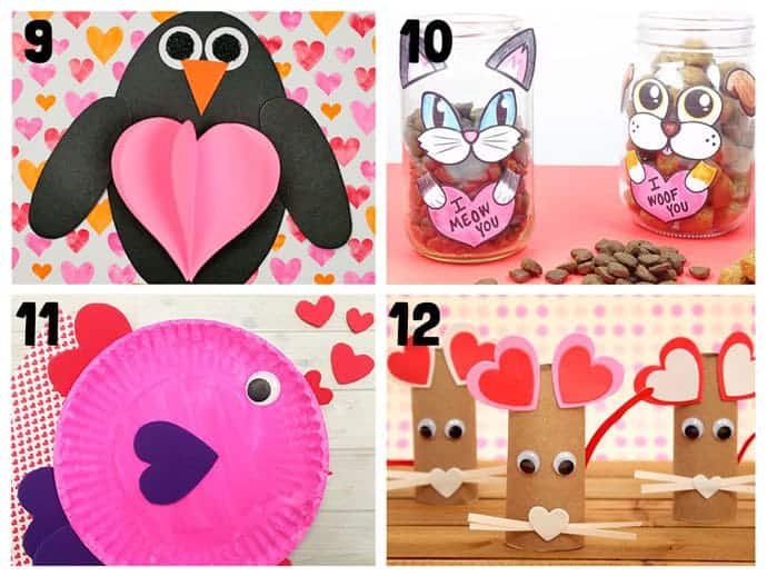 Animal Valentine Crafts 9-12