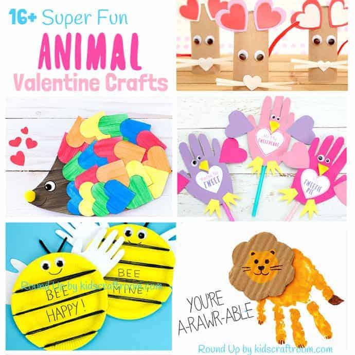 Animal Valentine Crafts Square Kids Craft Room