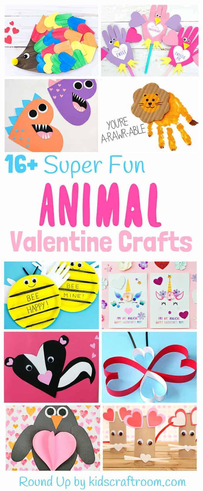 Animal Valentine Crafts For Kids Kids Craft Room