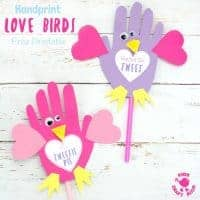 Adorable Handprint Love Birds