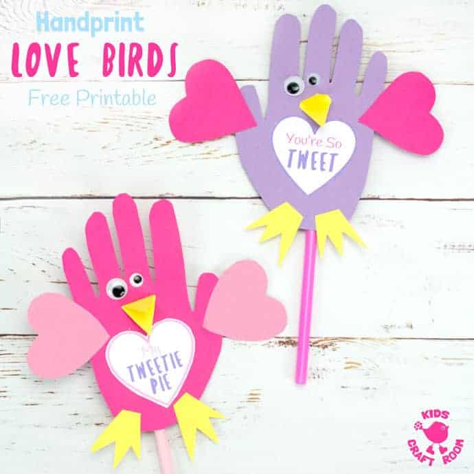 image relating to Printable Handprint identify Absolutely free Printable Get pleasure from Birds Template - Small children Craft Place