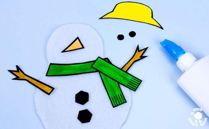 Paper Plate Melting Snowman Craft Kids Craft Room