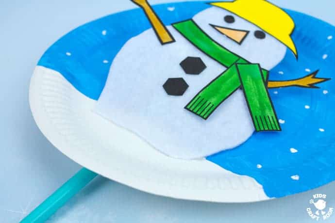 Paper Plate Melting Snowman Craft Kids Craft Room