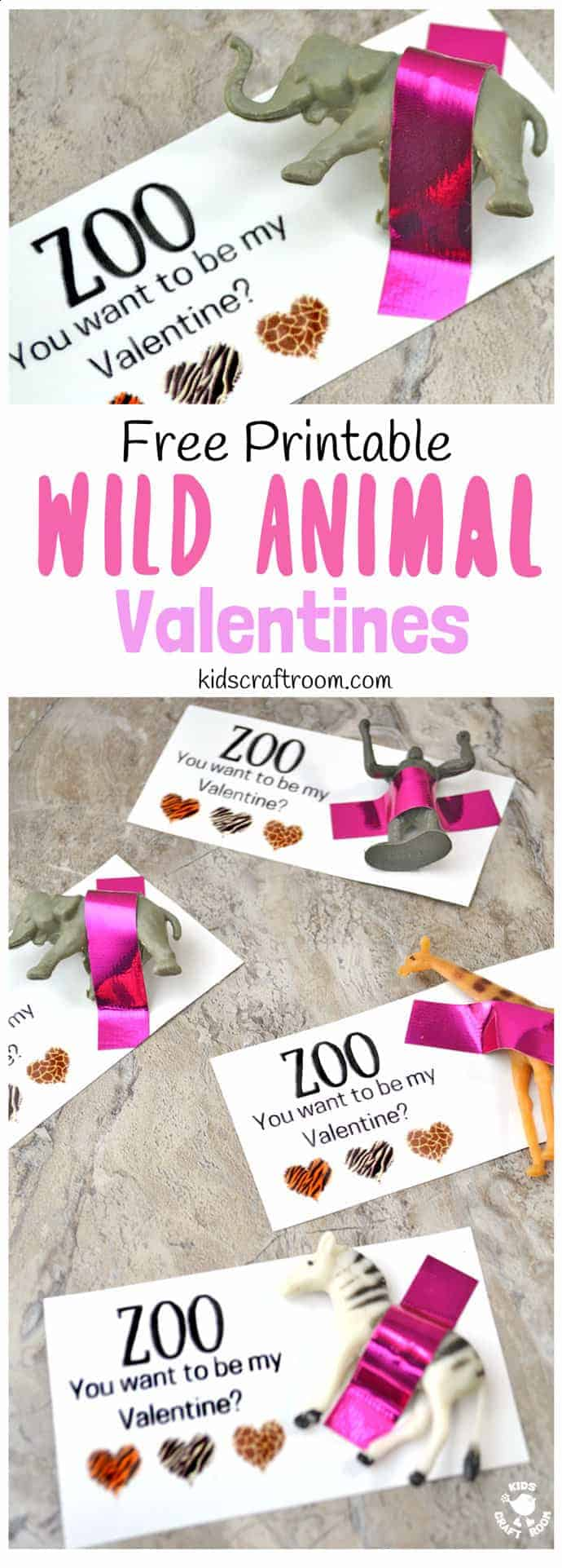 zoo you want to be my valentine who could resist these valentine favors printable - Photo Valentine Cards