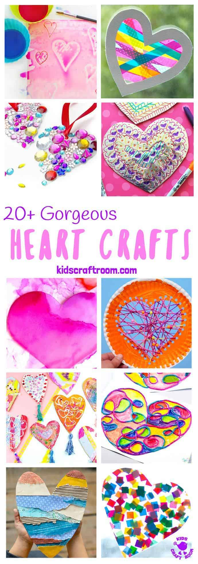GORGEOUS HEART CRAFTS FOR KIDS - We've gathered together 20+ Heart Crafts For Kids that are stunning! All of these heart ideas are really achievable and most can be made with the type of supplies you've probably got in your art and craft cupboard already. Your kids will love them! Great for Mother's Day, Valentines or any time you want to spread a little love. #heart #heartcrafts #valentinesday #valentinecraft #valentinesdaycrafts #kidscrafts #craftsforkids #kidsactivities