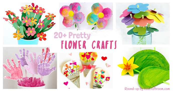 20 pretty flower crafts for kids kids craft room mightylinksfo