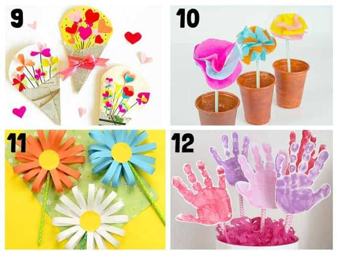 Pretty flower crafts for kids 9-12