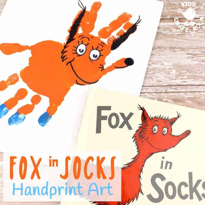 photo regarding Fox in Socks Printable Template known as Magnificent Fox Inside of Socks Handprint Craft - Small children Craft House